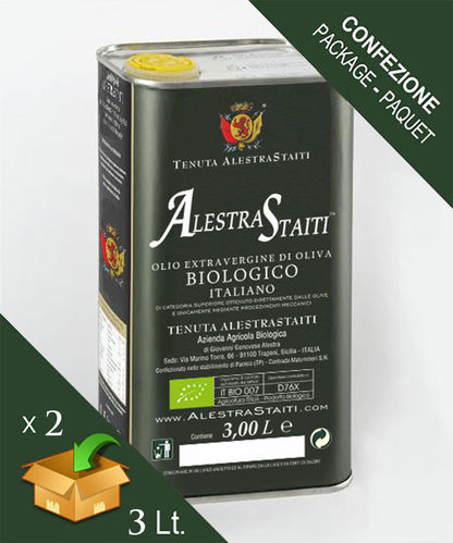 """AlestraStaiti"" Biologico - Scatola 2 lattine da 3 litri"