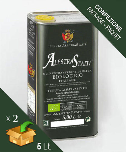 """AlestraStaiti"" Biologico - Scatola 2 lattine da 5 litri"